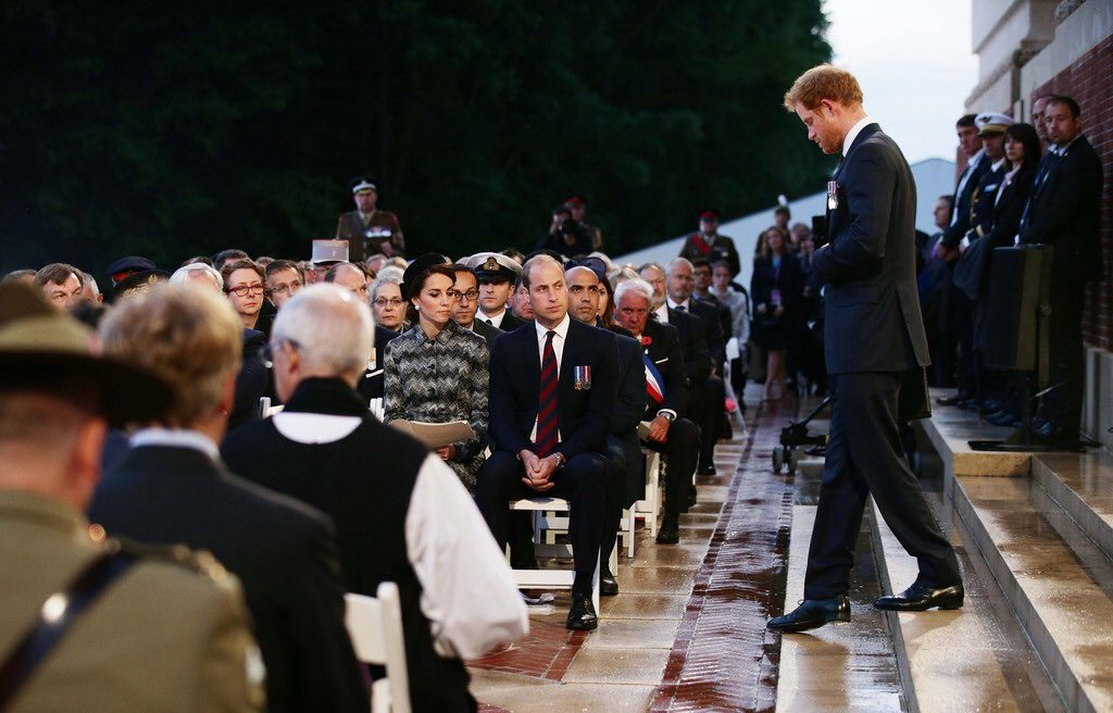 William, Kate, Harry Somme centenary