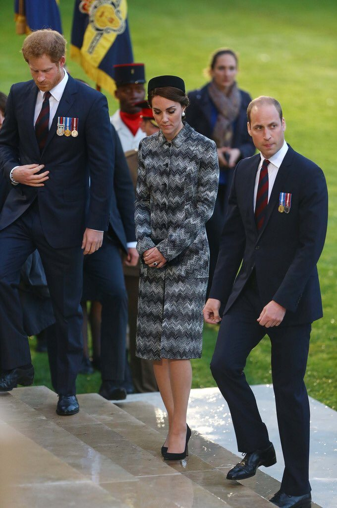 William, Kate, Harry arrive at Thiepval Memorial Somme