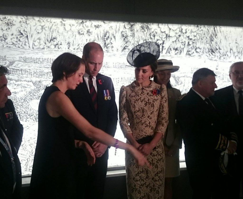 William and Kate at Thiepval Museum