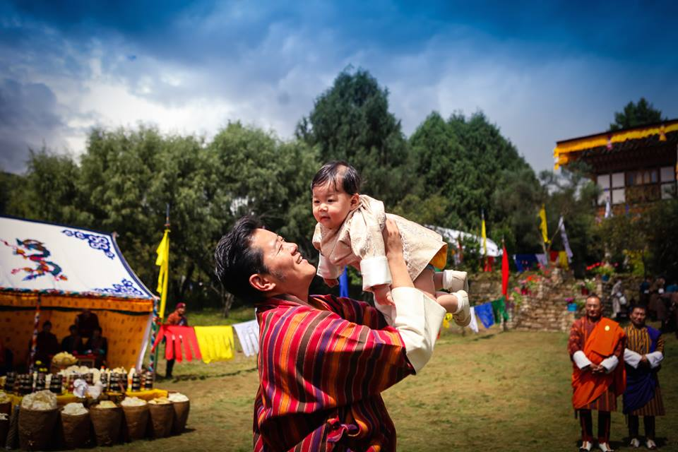 King and The Gyalsey in Bumthang Aug 2016