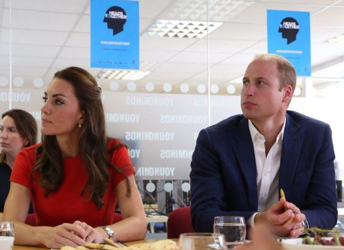 William and Kate at YoungMinds