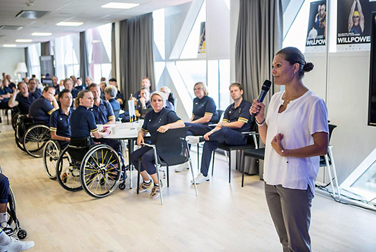 Crown Princess Victoria supporting Paralympic athletes