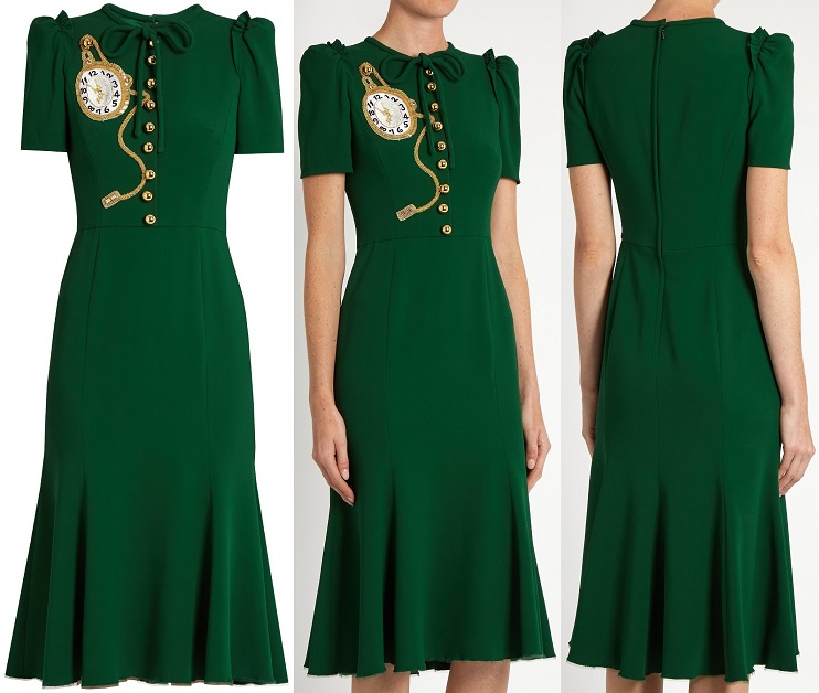 dolce-gabbana-pocket-watch-applique-crepe-midi-dress