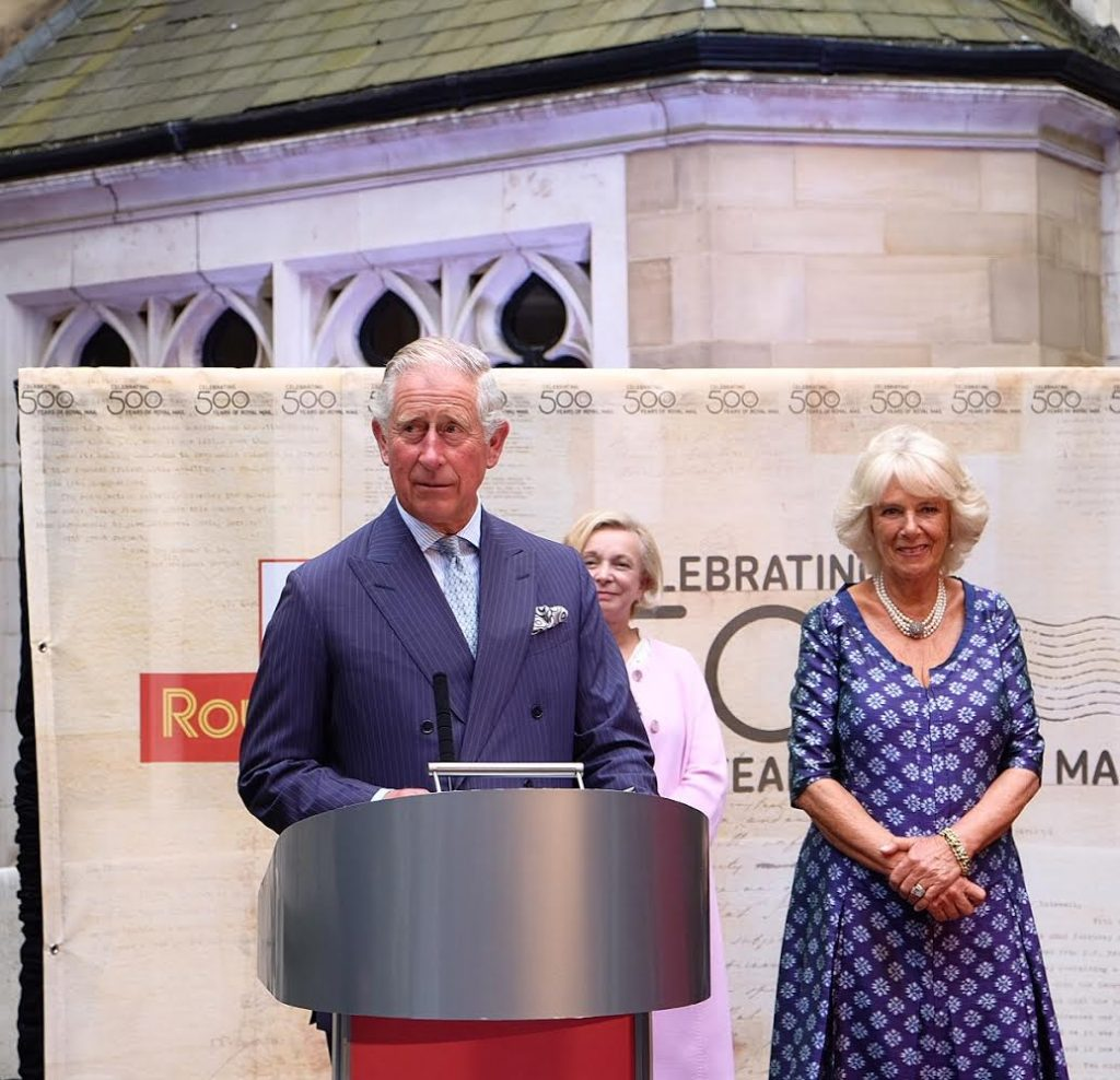 Prince Charles gives speech at Royal Mail 500th anniversary