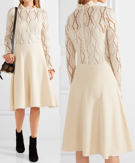 see-by-chloe-pointelle-knit-cotton-blend-dress