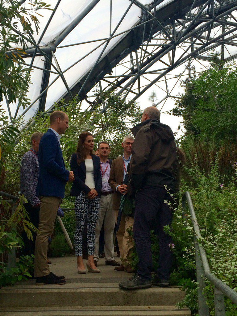 William and Kate at Mediterranean Biome in Cornwall