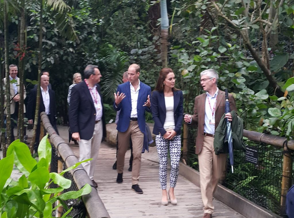 William and Kate at Rainforest Biome in Cornwall