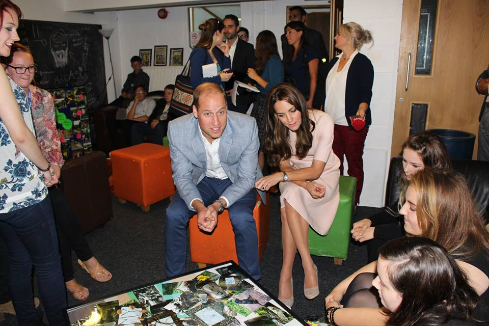 William and Kate talk to young people at Zebs in Cornwall
