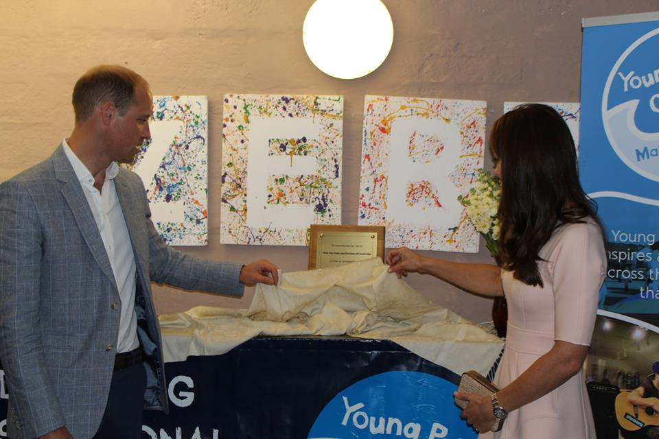 William and Kate unveil plaque at Zebs in Cornwall