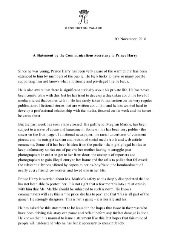 prince-harrys-statement-on-the-harassment-of-meghan-markle