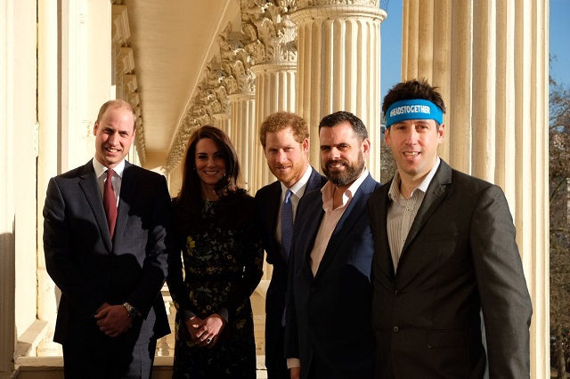 William, Kate, Harry met runners at Heads Together event Jan 2017 s