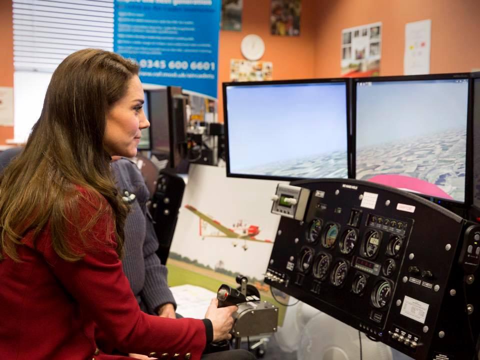 Kate flight simulator Air Cadets Feb 2017