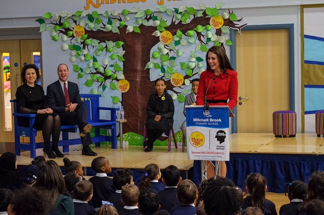 Kate gives speech at Place2Be Big Assembly Feb 2017 s