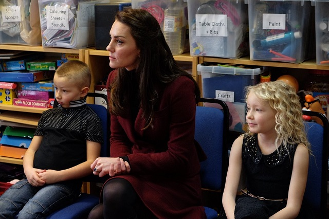 Kate meets families at Action for Children Feb 2017