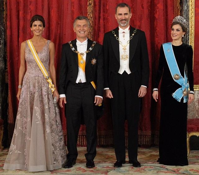 Letizia Argentina State Visit 2017 banquet