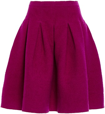Oscar De La Renta Full Pleated Skirt