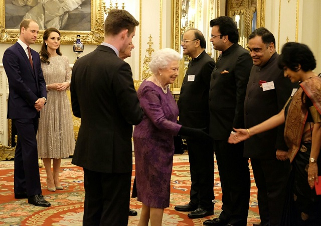 Queen, Kate, William UK-India BP reception s