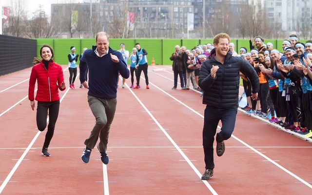 William, Kate & Harry run relay at Heads Together Training Day s