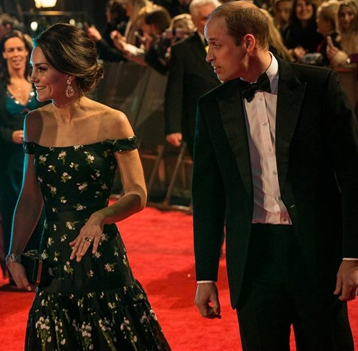 William and Kate arrive to BAFTA Film Awards cp