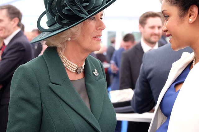 Camilla wears 4 Rifles brooch at Afghan Service of Dedication
