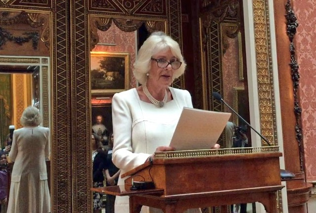 Camilla gives speech at Women of the World on International Women's Day 2017