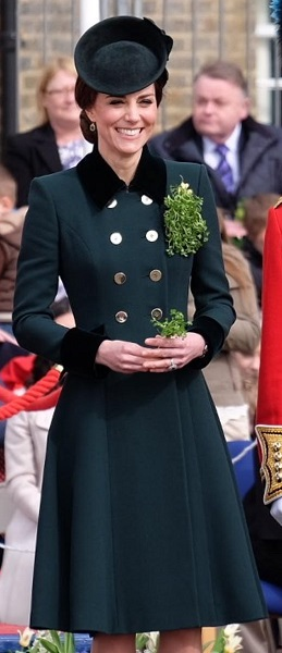Kate in Catherine Walker at St. Patrick's Day 2017