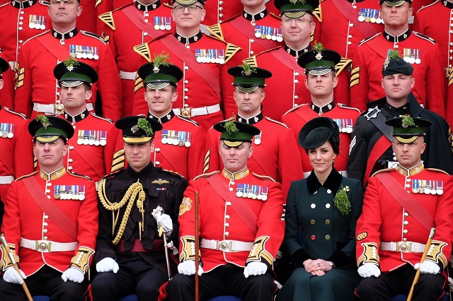 Kate with the Irish Guards St. Patrick's Day 2017