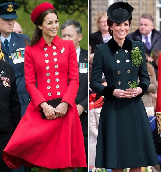 Kate's Catherine Walker military-style button coats s