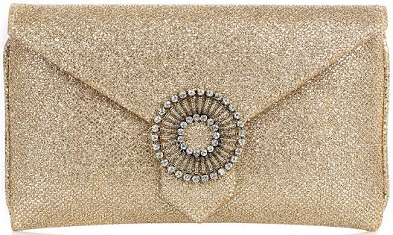 Wilbur and Gussie Charlie Gold Glitter Clutch s