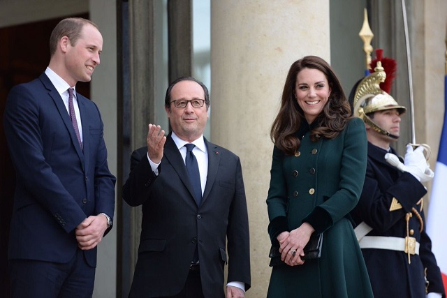 William and Kate arrive in Paris March 2017
