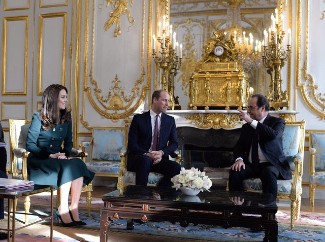 William and Kate meet President of France March 2017