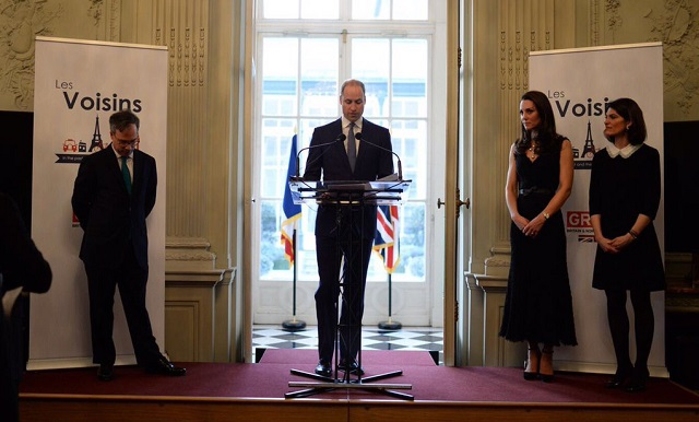 William gives speech at British Embassy in Paris March 2017