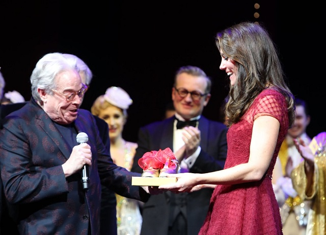 Kate presented with tap shoes at 42nd Street opening night s