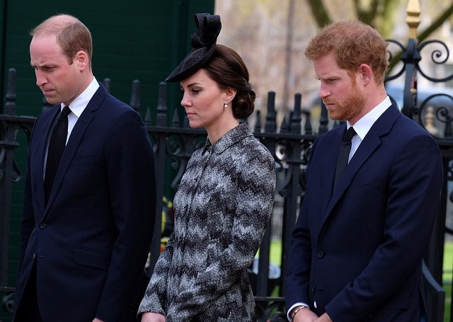 William, Kate, Harry at Westminster Abbey Service of Hope