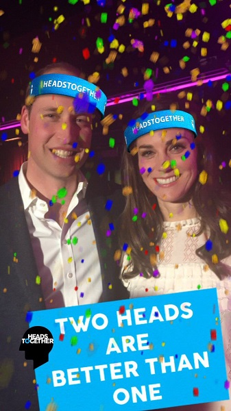 William, Kate Heads Together Snapchat filter s