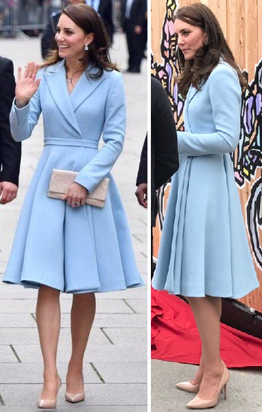 Emilia Wickstead powder blue coatdress