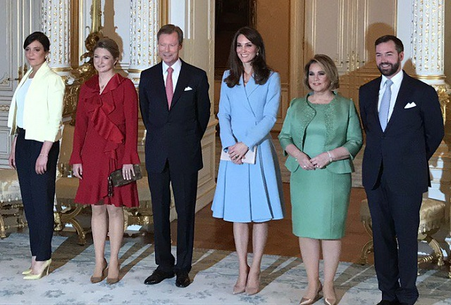Kate with Grand Ducal Family of Luxembourg cs