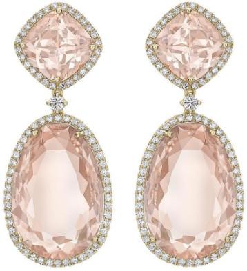 Kiki McDonough Morganite Double Drop Earrings