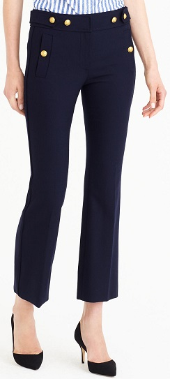 J. Crew Sailor pant in two-way stretch wool