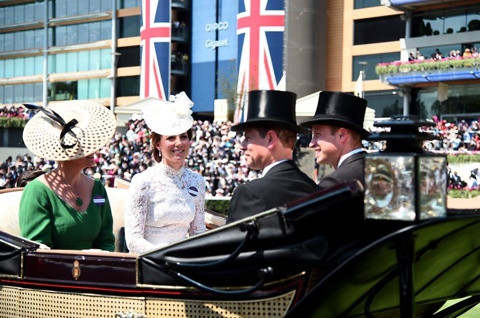 Kate, William, Sophie, Edward Royal Ascot 2017 Day 1