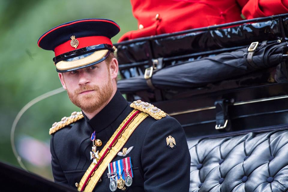 Prince Harry Trooping the Color 2017