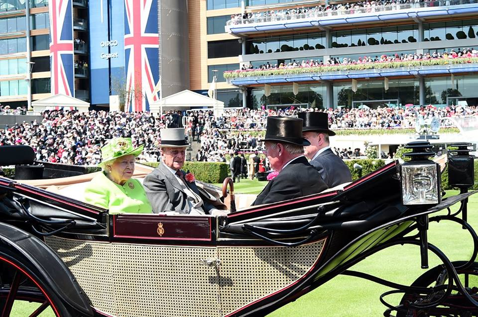 Queen, Philip Royal Ascot 2017 Day 1