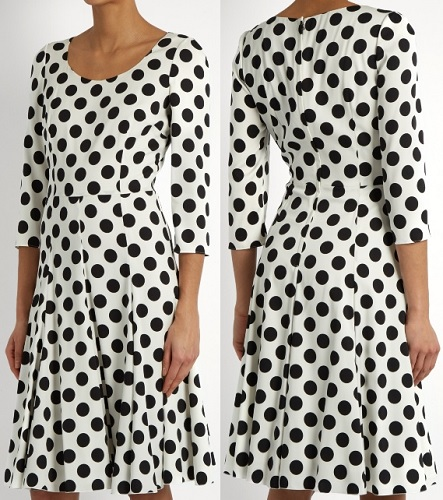 Dolce & Gabbana Polka-dot print silk-blend charmeuse dress
