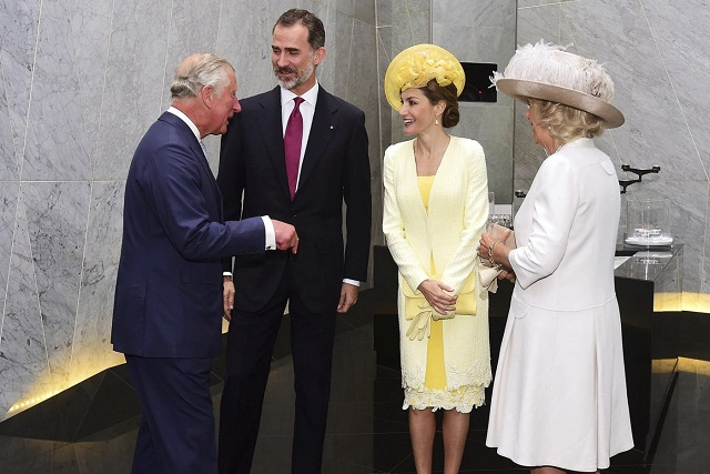 Felipe, Letizia greeted by Charles, Camilla UK State Visit Day 1 s