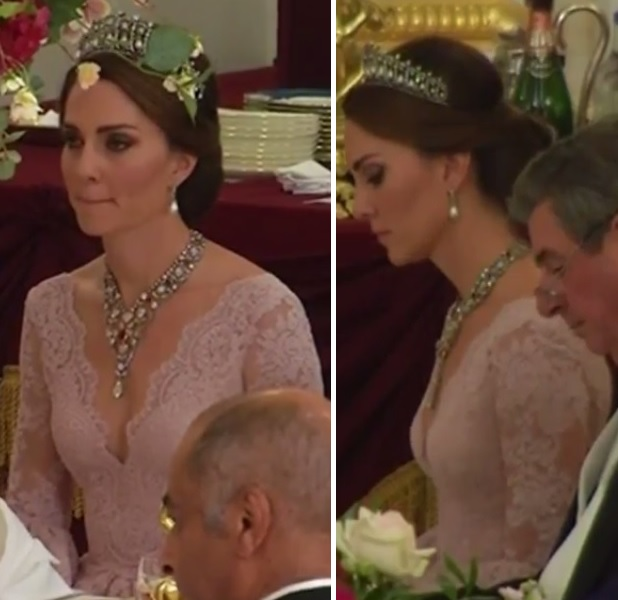 Kate at State Banquet UK State Visit 2017 4