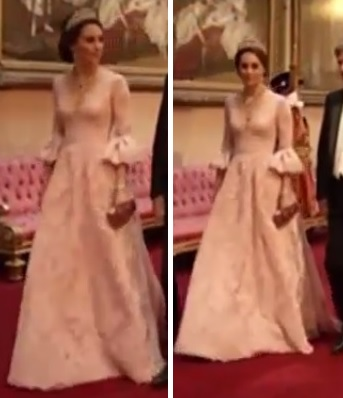 Kate in Marchesa at State Banquet UK State Visit 2017