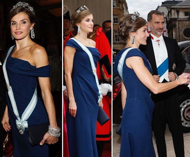 Letizia Guildhall banquet UK State Visit Day 2 1 s