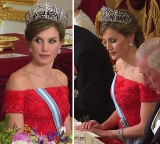 Letizia at State Banquet UK State Visit 2017 2