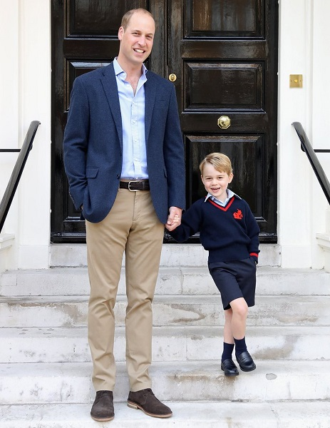 Prince George first day of school cs