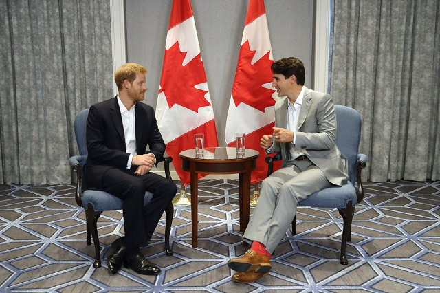 Prince Harry Justin Trudeau Sept 2017 s